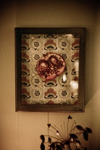 Bleeding Pomegranate Heart in Shadowbox
