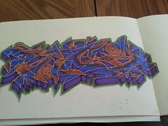 Vice (Extraskin-_-...dwk ban []ov[ ]) Tags: blue brown green art paper graffiti book sketch purple letters vice sketchbook dirt v3 lime piece ban tobacco aow dwk vicer blackook