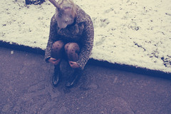 (_acido) Tags: snow cold ice me vintage garden hearts shoes soft mask coat blond whiterabbit canoneos450d