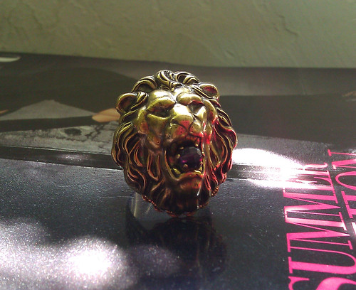 jan michaels lion ring