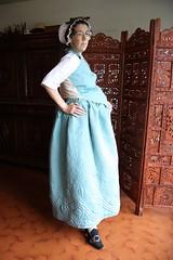 Petticoat and waistcoat, side