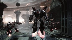 Meeting With Jetfire (BarricadeCaptures) Tags: transformers war for cybertron wfc chapter vi 6 defend iacon aerial bot scientist jetfire game screenshot screencap