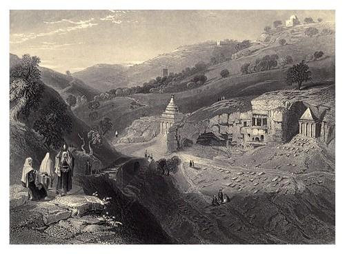 008-Tumbas en el valle de Jeosafat-Bartlett, W. H. 1840-1850