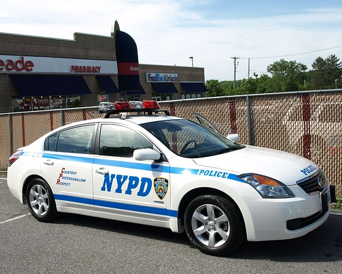 P122s NYPD Nissan Altima Hybrid Police Car, Staten Island, New York City