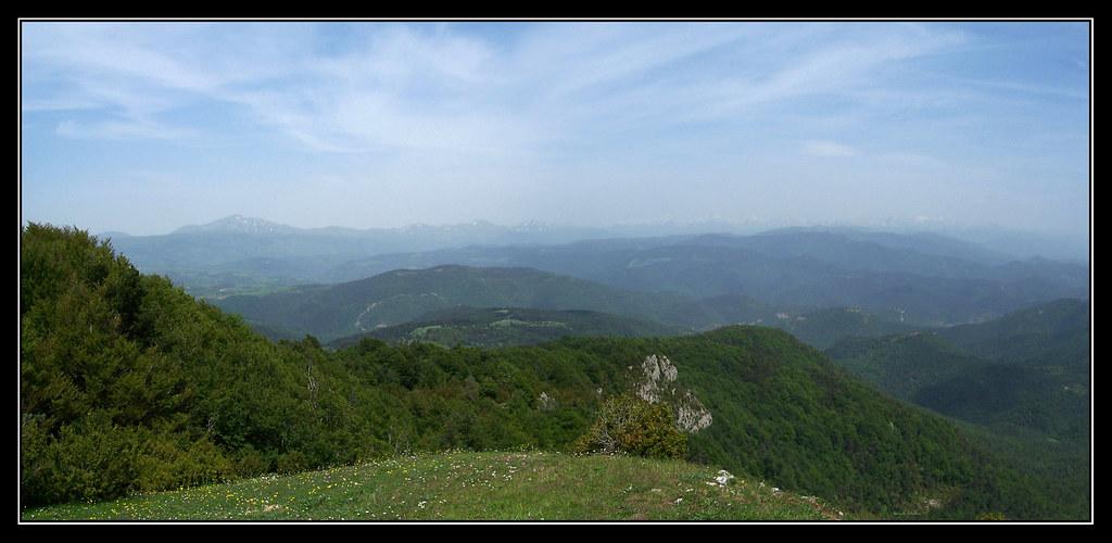 Pirineos desde la cima del Remendía