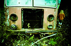 Autofriedhof Grbetal (Rolf F.) Tags: auto old red friedhof classic cars film girl cemetery car analog trash yard canon vintage lost schweiz switzerland lomo lca xpro lomography junk rust child cross kodak decay rusty dump lomolca scan negative jacket forgotten processing oldtimer bern junkyard analogue autos left ektachrome processed canoscan kodakektachromee100g carcemetery 8800 e100g autofriedhof cardump historischer 8800f autaut grbetal kaufdorf