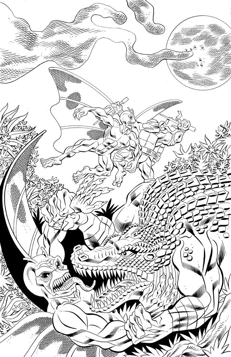 Tales of the TMNT v.2 #63 ..pencils by Jim Lawson, inks by Ryan Brown !!  (( October 2009 ))