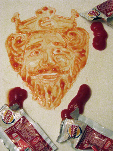 Burger King Ketchup Painting