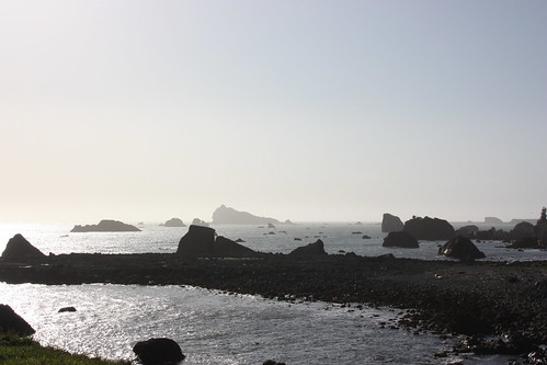 First sighting of the Pacific Ocean at Crescent City