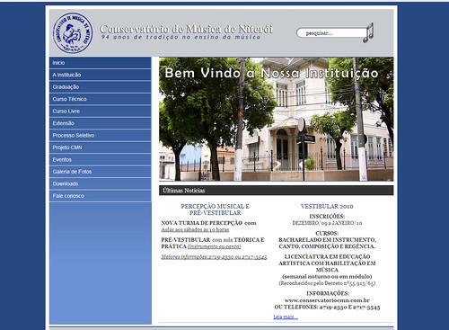 Site do Conservatório CMN