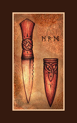 Sgian Dubh (Cedarlore Forge) Tags: irish ancient steel knife scottish carving sword celtic blade dagger forged cutlery craftsmanship knotwork mythic sgian woordwork dubh