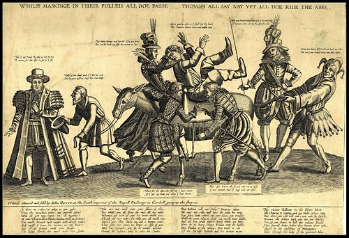Satire on the folly of the world (Riding an Ass) 1607
