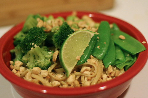 Aromatic Noodles with Lime-Peanut Sauce