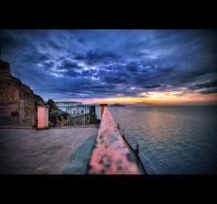 Good morning.... (gabrielescotto) Tags: sunset red sky italy sun seascape art photoshop sunrise landscape nikon bravo italia mare postcard sigma explore napoli naples vesuvio frontpage procida hdr photomatix sigma1020 d80 gabrielescotto