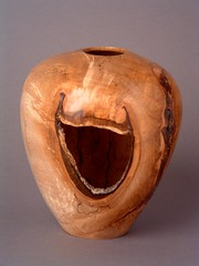 Laughing Vase (Michael Kehs Woodworks) Tags: wood trees sculpture art nature smile laughing mirror design michael natural fig handmade unique fineart carving caves bark laugh vase ash cave boxes bowls woodcarving kehs woodburning woodturning boxelder