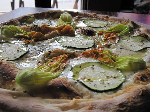 Zuccini Blossom Pizza