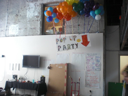 Testing the Pop Up Party banner