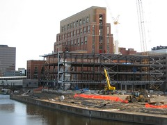 Accident Fund continued construction (NewCityOne) Tags: downtown riverfront powerplant renovation grandriver citycenter lansingmichigan boardofwaterlight ottawastreetstation accidentfund lansingbwl