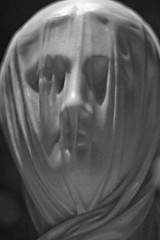 The Veiled Nun, Guiseppe Croff, c 1860, detail (Tiz_herself) Tags: blackandwhite bw sculpture art washingtondc veil nun illusion marble museums array d300 corcorangallery guiseppecroff