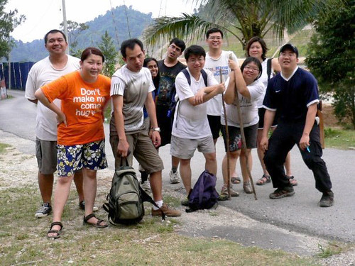 Kemensah Falls - 12 The group after