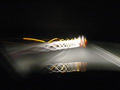 IMG_5542 (don pedro 93) Tags: light night motorway august 2009 fromthecar journeythere carheadlights drawingwithlight thejourneythere