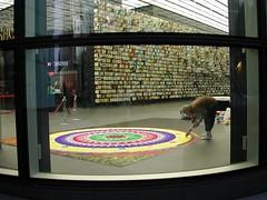 Rangoli work in progress at HSBC Global HQ, Canary Wharf, London (janakchauhan) Tags: