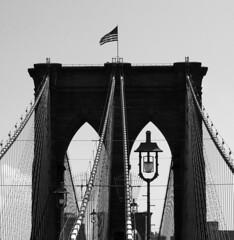 Brooklyn Bridge (Anna Grove) Tags: bridge blackandwhite bw newyork manhattan brooklynbridge