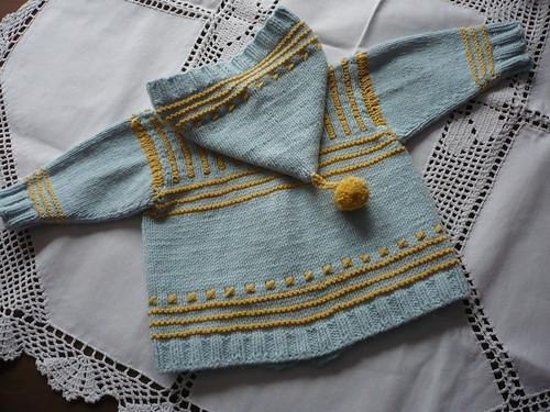 kapuzenjacke stricken baby