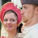 Lady Elizabeth (Jessica Talson) and Sir John Dudley (Brian Douglas)
