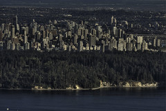 looking down at the city I love (Eyesplash - Summer was a blast, for 6 million view) Tags: city mountain storm vancouver skyscraper buildings downtown towers burrardinlet stanleypark cypress core offices prospectpoint devastation