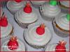 Rosh Hashana Cupcakes (Maya Ellis) Tags: red orange flower green apple floral yellow festival colorful sweet cream sugar bee cupcake honey vanilla muffin roshhashana fondant buttercream pomegranet sugarpaste