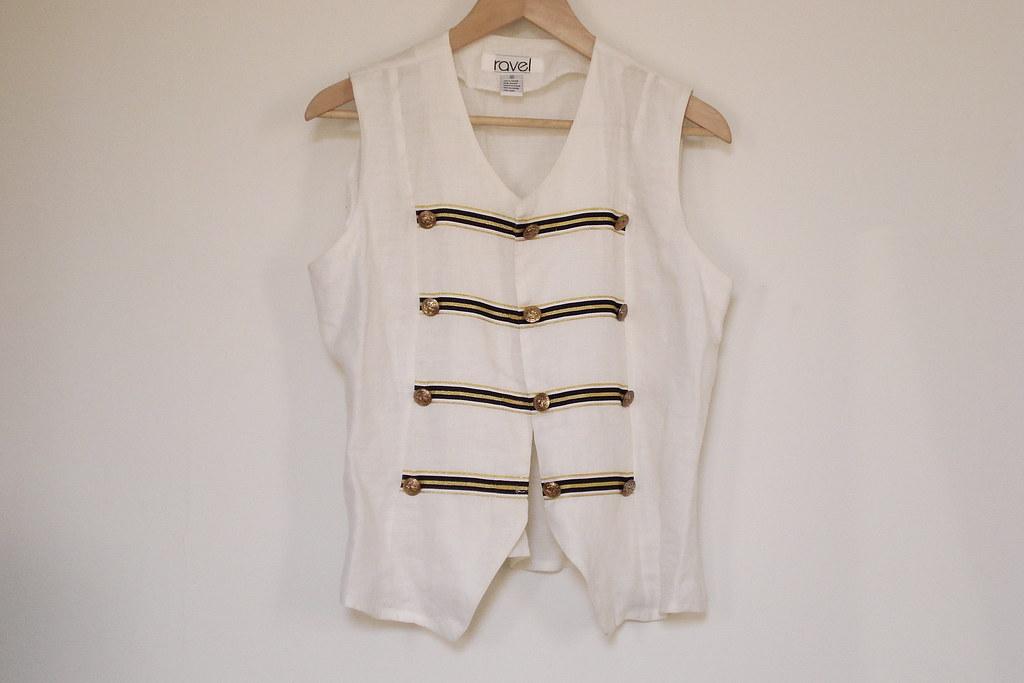 vintage marching vest