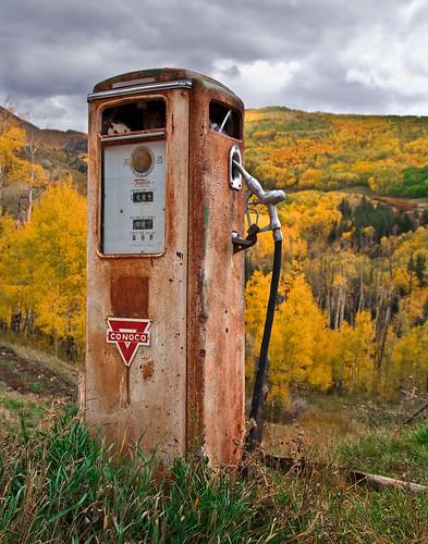 осень в лесу Сан Хуан, Колорадо