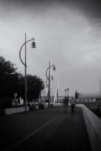 Harbour Walk. Pinhole (f/177), 0.6x Wide Angle Converter, Lensbaby Composer.