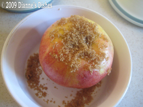 Baked Apples: Brown Sugar