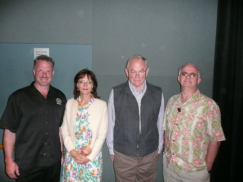 Speakers at the Symposium: Bruce Paton, Christine Hastorf, Fritz Maytag and Charlie Bamforth