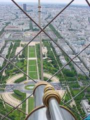 Eiffel Tower telescope view