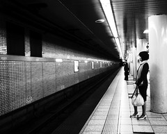 87/365: INKlings [EXPLORED] (joyjwaller) Tags: blackandwhite girl lines japan subway tokyo metro unease harukimurakami inklings kayabacho tozailine sarin project365 fccwinner
