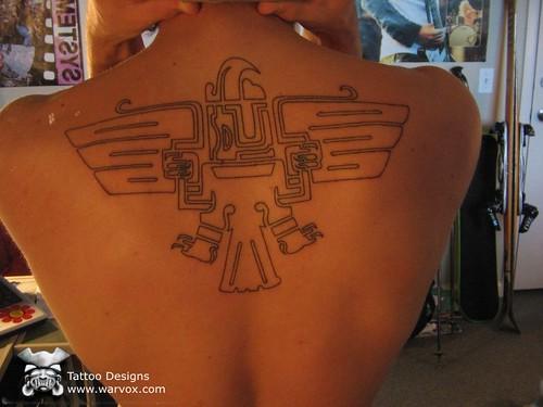 a87a2a5dc Aztec Eagle Tattoo. PreHispanic Tattoos. Jaguar Warrior Tattoo Warvox