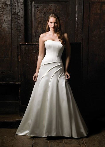 A-Line style in a wedding dress.