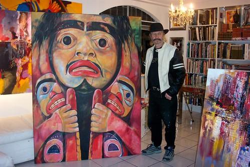 Masks - Painting - Realism