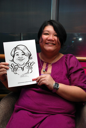Caricature live sketching for TLC - 8