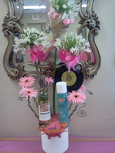 Hairspray Flower Arrangement