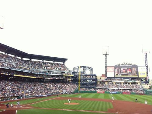 The View From My Seat:  PNC Park, where the beerman sells Yuengling. Mets - Pirates -