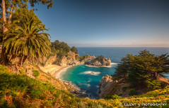 McWay Falls LE (Silent G Photography) Tags: ocean california ca longexposure beach landscape photography coast waterfall pacific cove bigsur wideangle pch highway1 adobe le palmtree hdr marinelayer mcwayfalls photomatix sigma1020 colorefexpro niksoftware 10stopndfilter highdynamicrangephotography lightroom3 bwnd110 pfiefferburnsstatepark nikond7000 markgvazdinskas silentgphotography