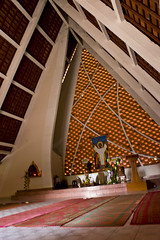 St. Michael's Church designed by Vann Molyvann (Keith Kelly) Tags: city beach religious coast town asia cambodia sihanoukville southeastasia catholic gulf holy coastal tropical kh kampuchea stmichaelschurch kampongsom sihanoukvillesihanoukville architectvannmolyvann