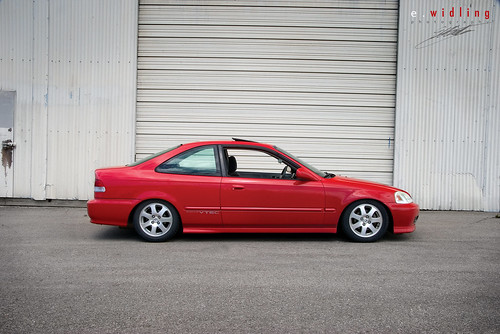 Modifiyeli Honda Civic.