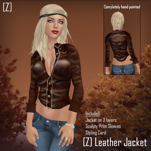 [Z] Leather Jacket - Madonna Inspired