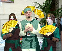 Animazement 2009: Kyoshi Warriors and Cabbage Guy (Avatar: The Last Airbender)