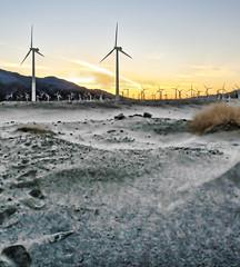 Windmill Sunset (Dean of Photography) Tags: sunset windmill landscape palmsprings topaz lucisart lucis motifdchallengewinner thechallengefactory herowinner